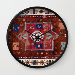 Kurdish  Antique Cihanbeyli  Tribal Rug Print Wall Clock