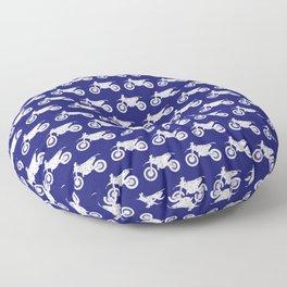 Dirt Bikes // Midnight Blue Floor Pillow