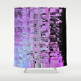 Softest Possible Glitch 03 Shower Curtain