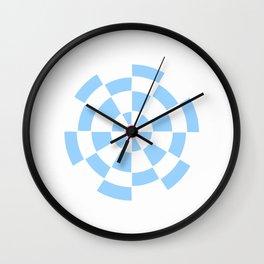 Mandala 3- blue and pink Wall Clock