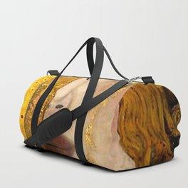 Gustav Klimt portrait The Kiss & The Golden Tears (Freya's Tears) No. 2 Duffle Bag
