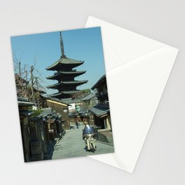 Kyoto Scooter Temple  Stationery Cards