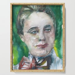 EMMY NOETHER watercolor portrait Serving Tray
