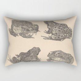 Naturalist Frogs Rectangular Pillow