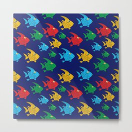 Cartoon Fish Metal Print