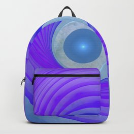 violet and blue and round Rucksack