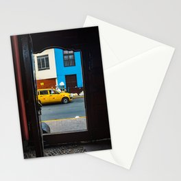 Streets with yellow taxi cabs Stationery Cards