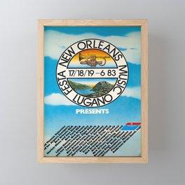 old poster festa new orleans music lugano Framed Mini Art Print