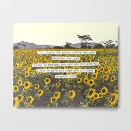 Jeremiah Sunflowers Metal Print