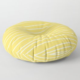 Sunshine Brush Lines Floor Pillow