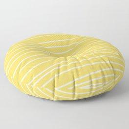 Sunshine Brush Lines Floor Pillow