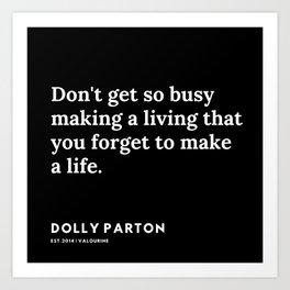 8   | 191120 | Dolly Parton Quotes Art Print
