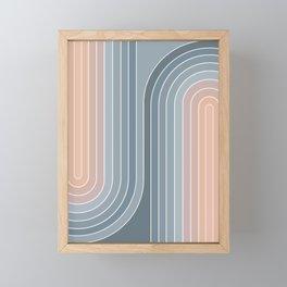 Gradient Curvature V Framed Mini Art Print
