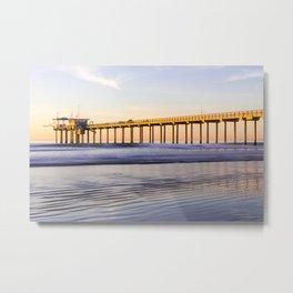 Scripps Pier La Jolla Shores Beach Metal Print