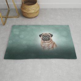 Drawing dog Pug Rug