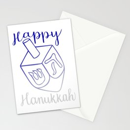 Happy Hanukkah Dreidel Stationery Cards