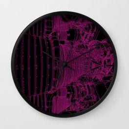 Apollo Rocket Booster - Pink Neon Wall Clock