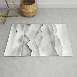 Japanese Landscape Painting Rug