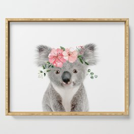 Baby Koala with Flower Crown Serving Tray