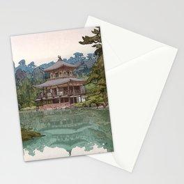 Hiroshi Yoshida - The Golden Pavilion - Japanese Vintage Ukiyo-e Woodblock Painting Stationery Cards