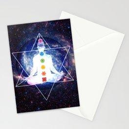 Merkaba Lightbody Chakra Meditation Stationery Cards