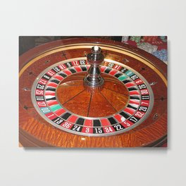 Roulette wheel casino gaming design Metal Print