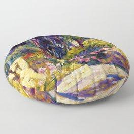 Henri Edmond Cross - The Flowered Terrace - Digital Remastered Edition Floor Pillow