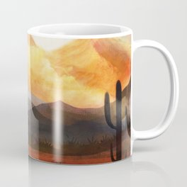 Desert in the Golden Sun Glow Coffee Mug