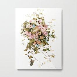 Trailing Jade Bouquet Metal Print