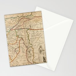 Vintage Map Print - Map of the Middle East: Turkey, Syria, Iraq, Israel etc. (1712) Stationery Cards