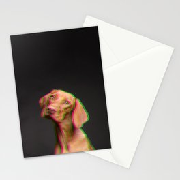 Glitched dog Stationery Cards