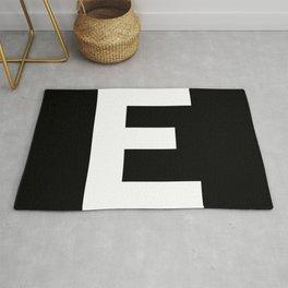 Letter E (White & Black) Rug