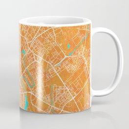 Minsk, Belarus, Gold, Blue, City, Map Coffee Mug