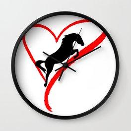 Riding Horse Lover Wall Clock