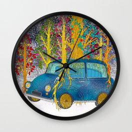 Apple Tree Growing on the Car 002 Wall Clock