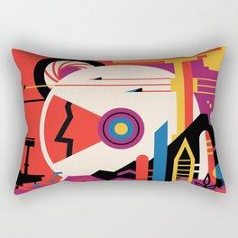 NASA Retro Space Travel Poster #9 Mars Rectangular Pillow