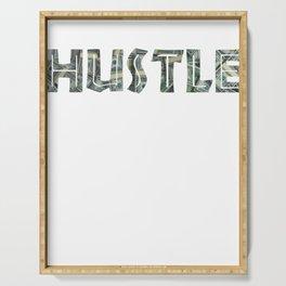 Hustle Money Entrepreneur design Vintage Dollar Bill product Serving Tray