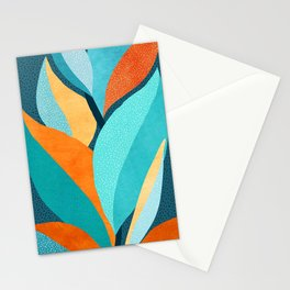 Abstract Tropical Foliage Stationery Cards
