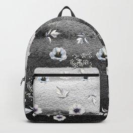 Winter Flower Garden Backpack