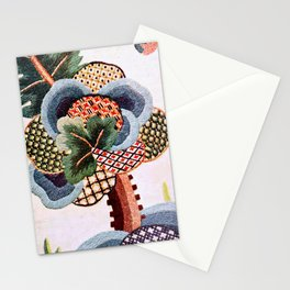 Crewel Tree Antique Elizabethan Vector Painting Stationery Cards