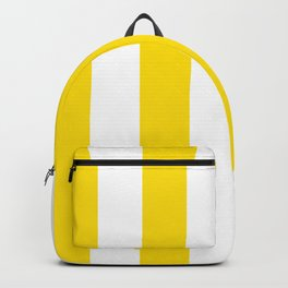 Classic Cabana Stripe in Lemon Yellow + White Backpack