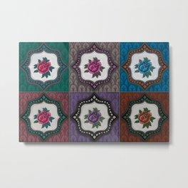 Peranakan Tiles (Textured Multi) Metal Print