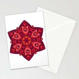 Valentine's Day Mandala Stationery Cards