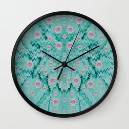 lotus  bloom lagoon of soft warm clear peaceful water Wall Clock