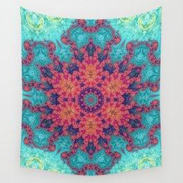 Rainbow Fractal Kaleidoscope Wall Tapestry