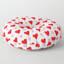 heart and love 14- Red and pink Floor Pillow