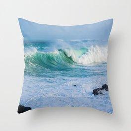 Breaking Waves Throw Pillow