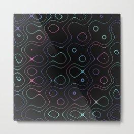 Liquid Lines Metal Print