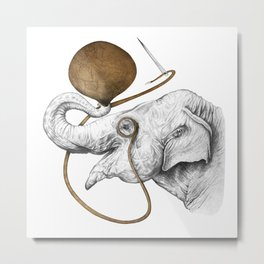 Copper Elephant Metal Print