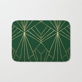 Art Deco in Gold & Green - Large Scale Badematte